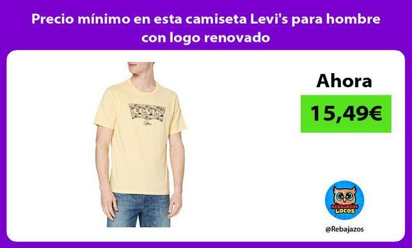 Precio mínimo en esta camiseta Levi's para hombre con logo renovado