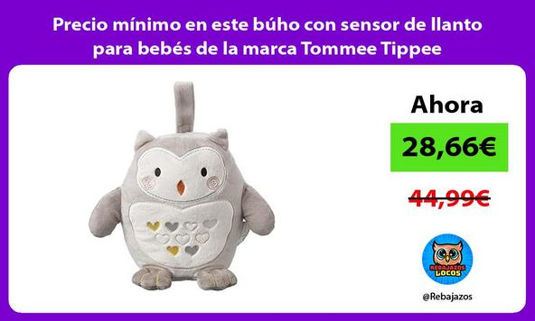 Precio mínimo en este búho con sensor de llanto para bebés de la marca Tommee Tippee