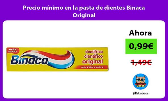 Precio mínimo en la pasta de dientes Binaca Original