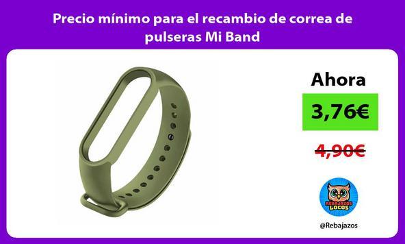 Precio mínimo para el recambio de correa de pulseras Mi Band