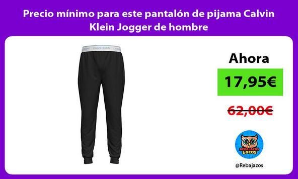 Precio mínimo para este pantalón de pijama Calvin Klein Jogger de hombre