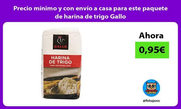 Precio mínimo y con envío a casa para este paquete de harina de trigo Gallo