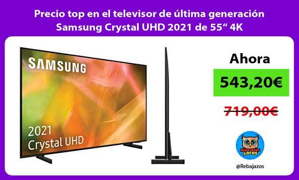 """Precio top en el televisor de última generación Samsung Crystal UHD 2021 de 55"""" 4K"""