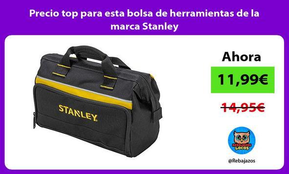 Precio top para esta bolsa de herramientas de la marca Stanley