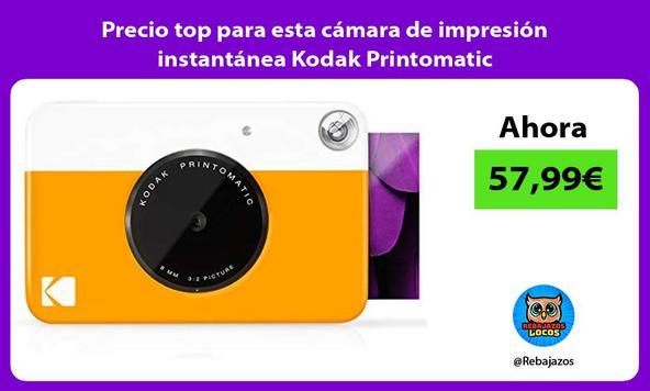 Precio top para esta cámara de impresión instantánea Kodak Printomatic