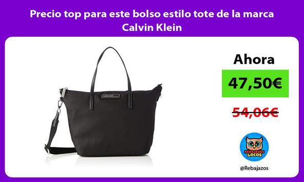 Precio top para este bolso estilo tote de la marca Calvin Klein