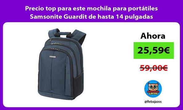 Precio top para este mochila para portátiles Samsonite Guardit de hasta 14 pulgadas