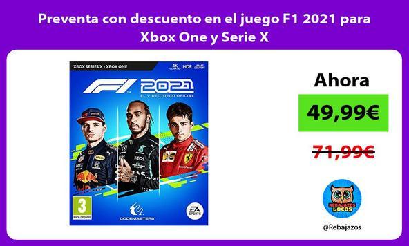Preventa con descuento en el juego F1 2021 para Xbox One y Serie X