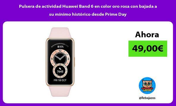 Pulsera de actividad Huawei Band 6 en color oro rosa con bajada a su mínimo histórico desde Prime Day