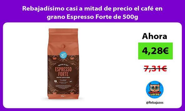 Rebajadísimo casi a mitad de precio el café en grano Espresso Forte de 500g