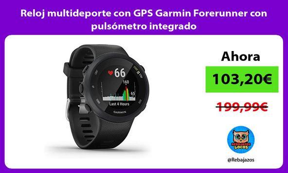Reloj multideporte con GPS Garmin Forerunner con pulsómetro integrado