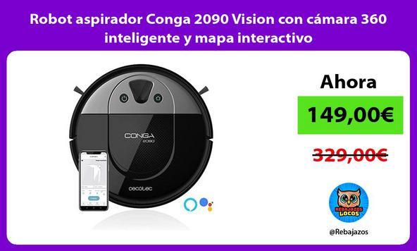 Robot aspirador Conga 2090 Vision con cámara 360 inteligente y mapa interactivo