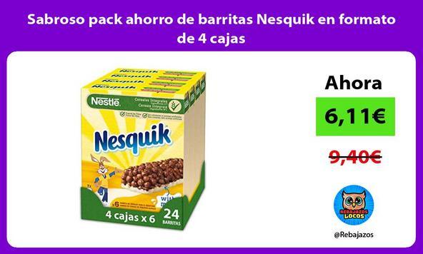 Sabroso pack ahorro de barritas Nesquik en formato de 4 cajas