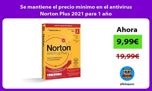 Se mantiene el precio mínimo en el antivirus Norton Plus 2021 para 1 año