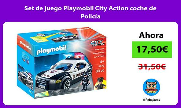 Set de juego Playmobil City Action coche de Policía
