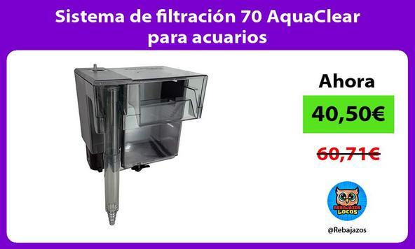 Sistema de filtración 70 AquaClear para acuarios