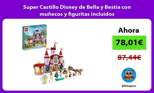 Super Castillo Disney de Bella y Bestia con muñecos y figuritas incluidos
