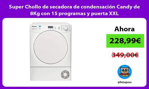 Super Chollo de secadora de condensación Candy de 8Kg con 15 programas y puerta XXL