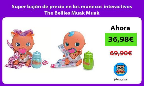 Super bajón de precio en los muñecos interactivos The Bellies Muak Muak
