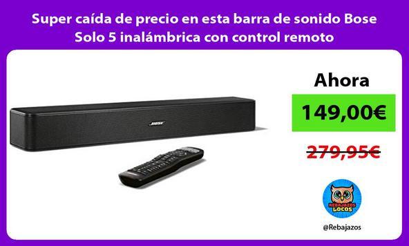 Super caída de precio en esta barra de sonido Bose Solo 5 inalámbrica con control remoto