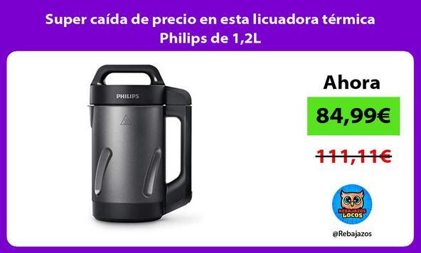 Super caída de precio en esta licuadora térmica Philips de 1,2L