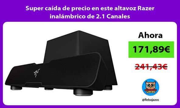 Super caída de precio en este altavoz Razer inalámbrico de 2.1 Canales