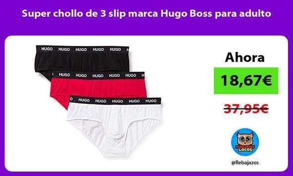 Super chollo de 3 slip marca Hugo Boss para adulto