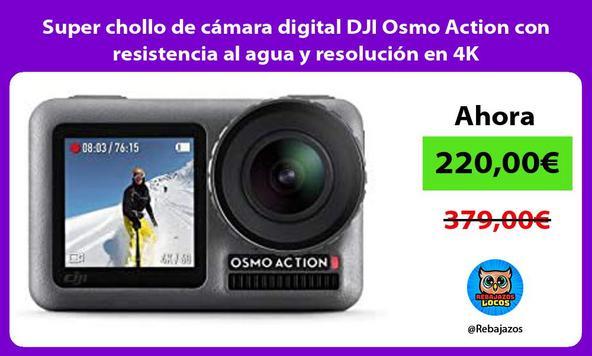 Super chollo de cámara digital DJI Osmo Action con resistencia al agua y resolución en 4K