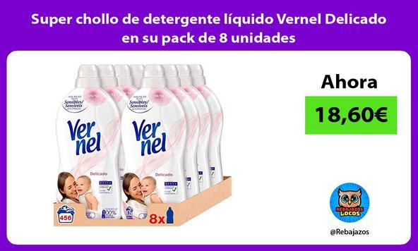 Super chollo de detergente líquido Vernel Delicado en su pack de 8 unidades
