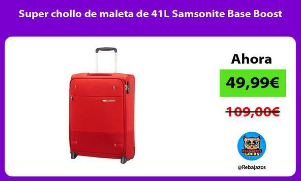 Super chollo de maleta de 41L Samsonite Base Boost