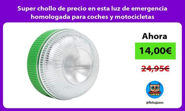 Super chollo de precio en esta luz de emergencia homologada para coches y motocicletas