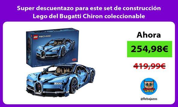 Super descuentazo para este set de construcción Lego del Bugatti Chiron coleccionable