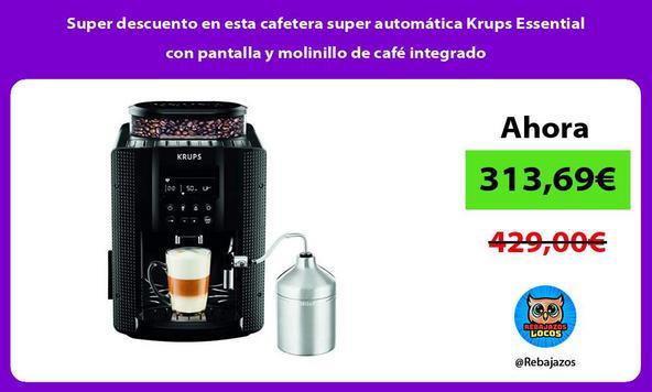 Super descuento en esta cafetera super automática Krups Essential con pantalla y molinillo de café integrado