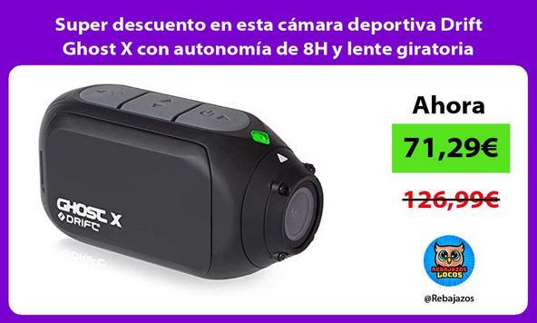 Super descuento en esta cámara deportiva Drift Ghost X con autonomía de 8H y lente giratoria
