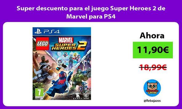 Super descuento para el juego Super Heroes 2 de Marvel para PS4