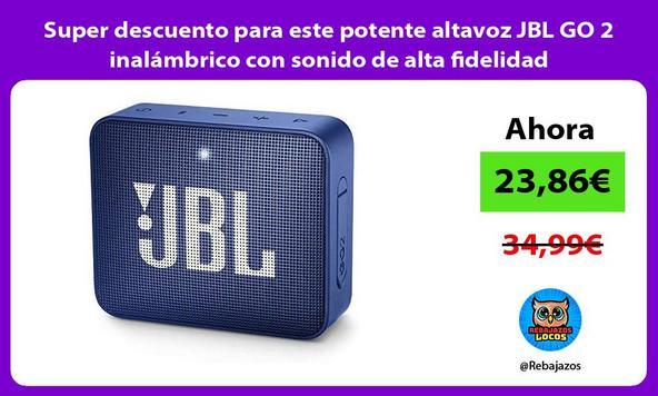 Super descuento para este potente altavoz JBL GO 2 inalámbrico con sonido de alta fidelidad