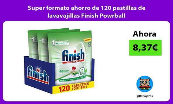 Super formato ahorro de 120 pastillas de lavavajillas Finish Powrball