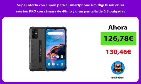 Super oferta con cupón para el smartphone Umidigi Bison en su versión PRO con cámara de 48mp y gran pantalla de 6,3 pulgadas