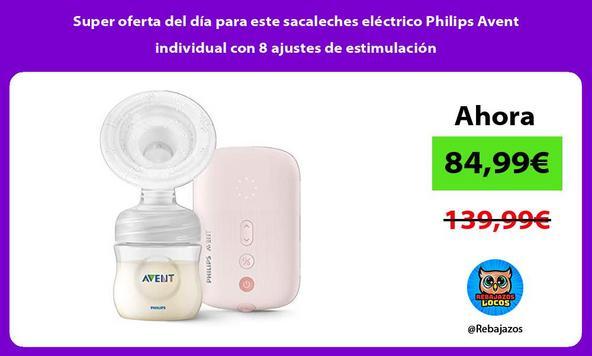 Super oferta del día para este sacaleches eléctrico Philips Avent individual con 8 ajustes de estimulación