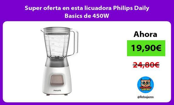 Super oferta en esta licuadora Philips Daily Basics de 450W
