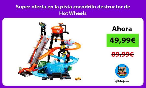 Super oferta en la pista cocodrilo destructor de Hot Wheels