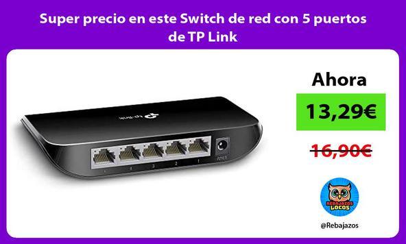 Super precio en este Switch de red con 5 puertos de TP Link