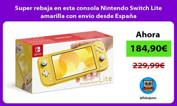 Super rebaja en esta consola Nintendo Switch Lite amarilla con envío desde España