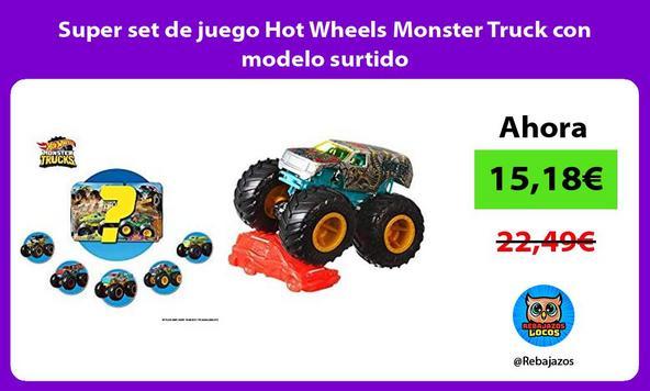 Super set de juego Hot Wheels Monster Truck con modelo surtido