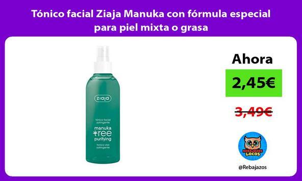 Tónico facial Ziaja Manuka con fórmula especial para piel mixta o grasa
