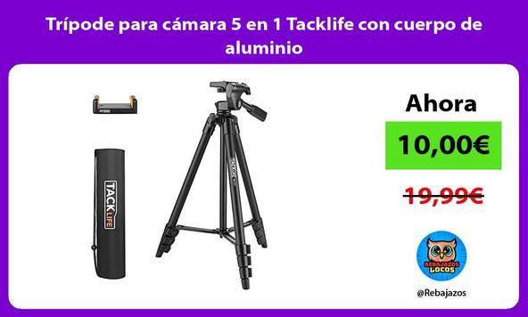 Trípode para cámara 5 en 1 Tacklife con cuerpo de aluminio