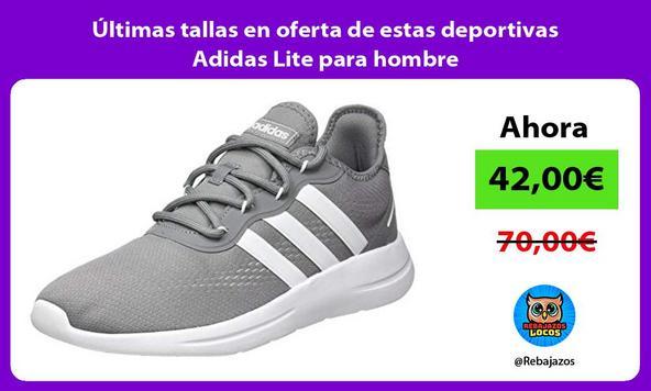 Últimas tallas en oferta de estas deportivas Adidas Lite para hombre