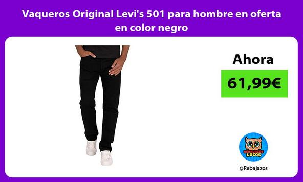 Vaqueros Original Levi's 501 para hombre en oferta en color negro