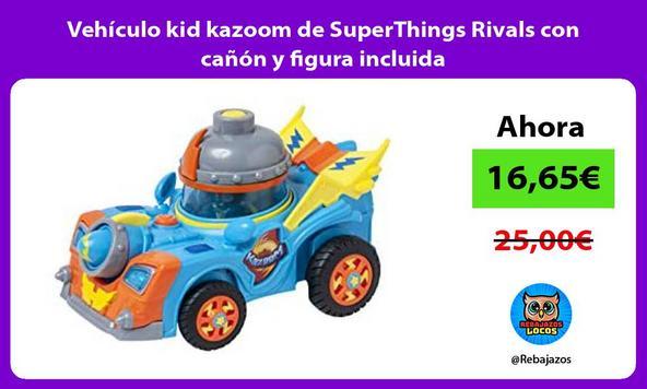 Vehículo kid kazoom de SuperThings Rivals con cañón y figura incluida