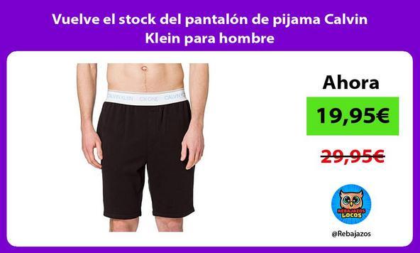 Vuelve el stock del pantalón de pijama Calvin Klein para hombre